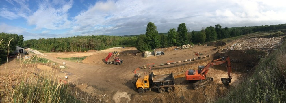 Photo of Markdale Holland Waste Disposal Site Cell Excavation