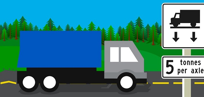 Photo of Reduced Load Restrictions 5 Tonnes per Axle