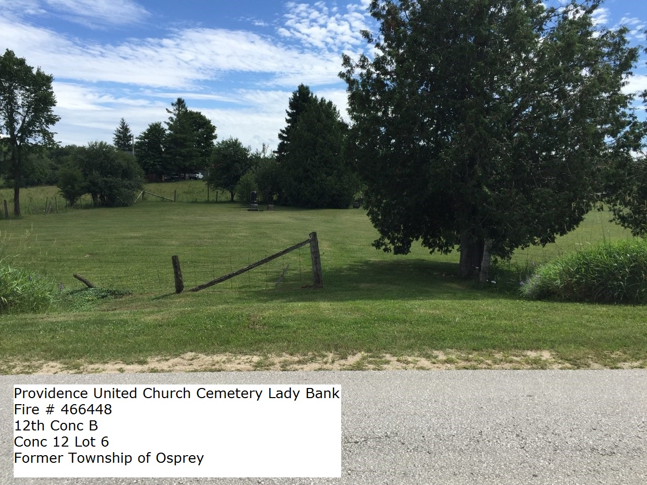 Picture of Providence United Church Cemetery in Lady Bank