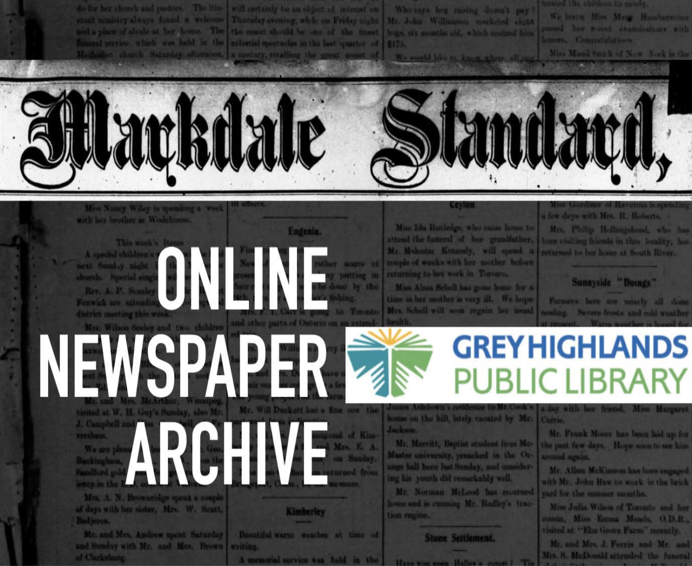 SGM - Markdale Standard Online Archive