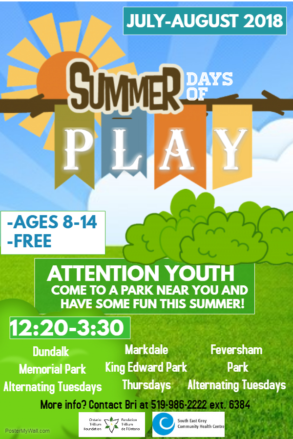 Summer Days of Play Poster